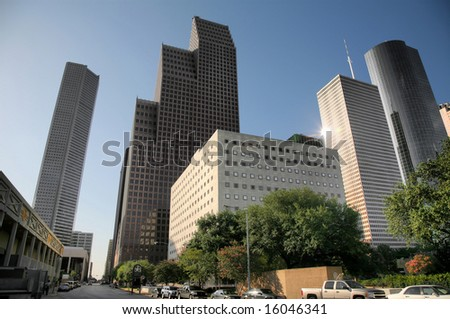 Editorial Use Only: Houston Skyline (Release Information: Editorial Use Only. Use of this image in advertising or for promotional purposes is prohibited.)