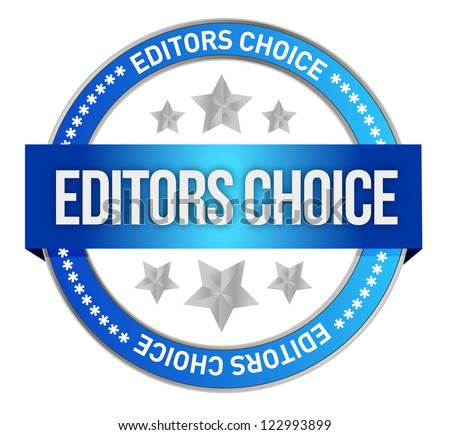editors choice concept illustration design over a white background