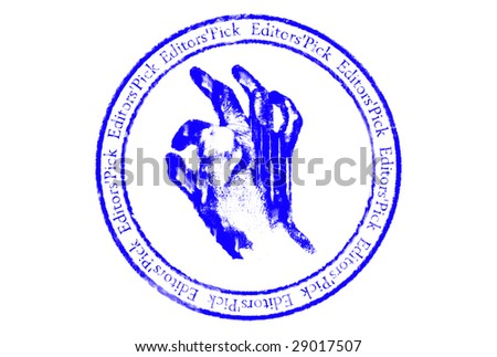 Editors'pick grunge rubber stamp over white background