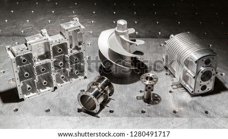 EDM wirecut steel tools, Spain. (Silver background)