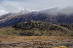 Edoras Mountain film location in the Lord of the Rings (Mount Sunday in New Zealand)