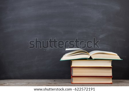 education concept   books on...