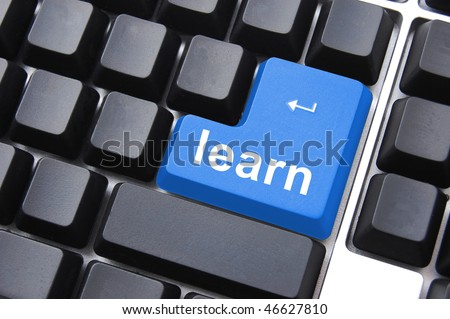 education concept with learn button on computer keyboard