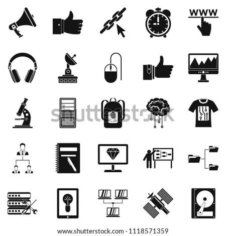 Education icons set. Simple set of 25 education icons for web isolated on white background