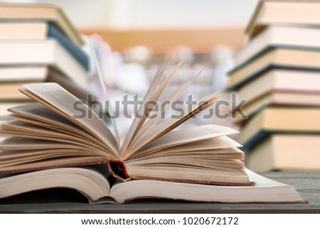 Education learning concept with opening book #1020672172