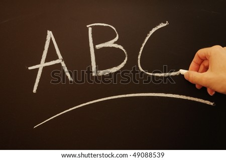 education learning or school concept with chalkboard - stock photo