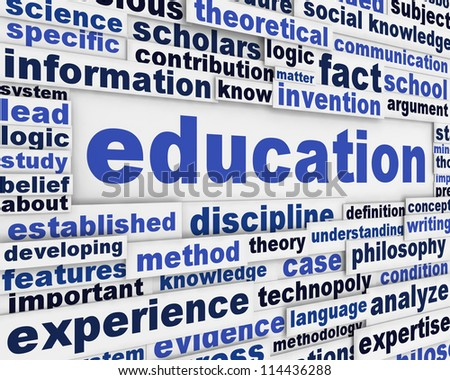 Education poster design. Knowledge development message background