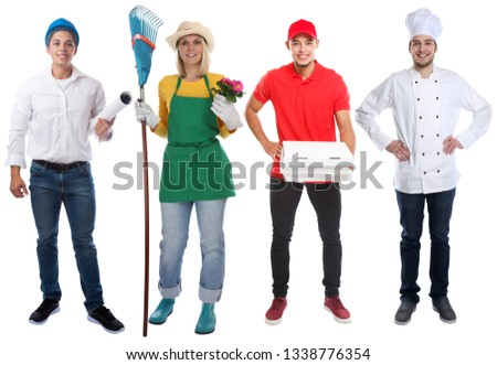 Education profession young people professions business full body portrait career isolated on a white background #1338776354