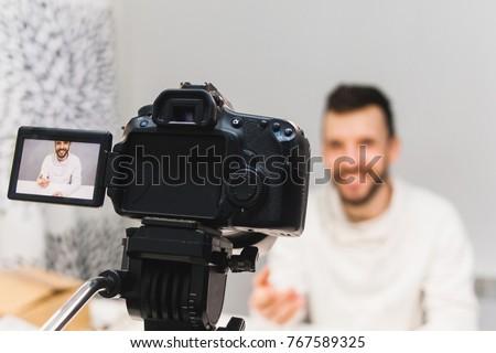 education video blog filming...