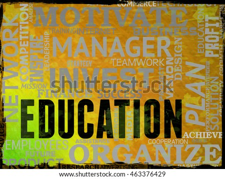 Education Words Indicating Studying College And Development