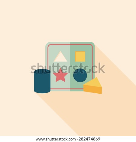 educational toy flat icon with long shadow,EPS 10 - Shutterstock ID 282474869