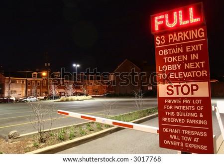Een misleidende parkerenpartij. - stock photo