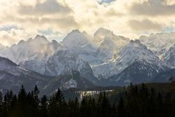 eeriness mountain landscape, Tatry, Poland