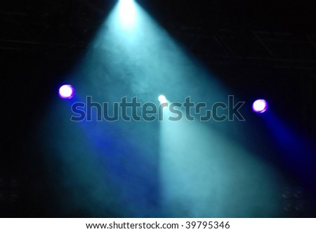 effect of a smoke and illumination on a scene during a musical concert #39795346