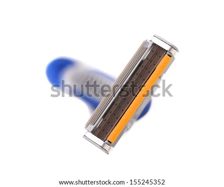 Effective area of shaving razor. Isolated on a white background. - stock photo