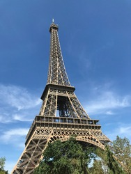 effiel tower in paris, france