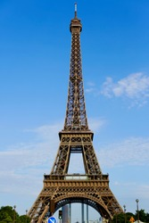 Effiel tower in Paris with blue sky