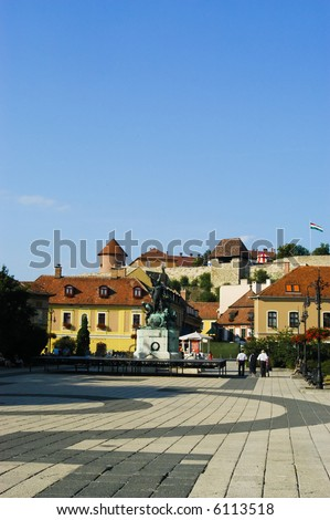 Eger, a famous city with fortress countryside Hungary
