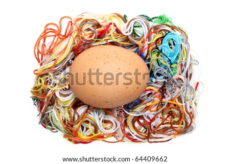 Egg and threads
