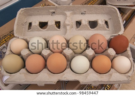 Photo of Egg Carton on Display at Farmer's Market
