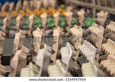 egg cartons in a factory
