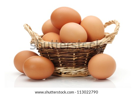 Shutterstock Egg collection isolated on white background