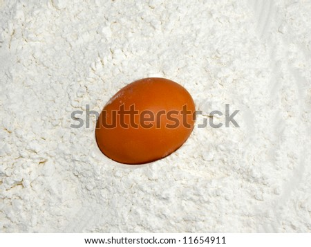 Egg is at the heart of flour.