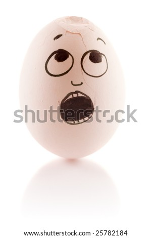Egg is scared as it is damaged