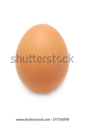 egg isolated on the white background