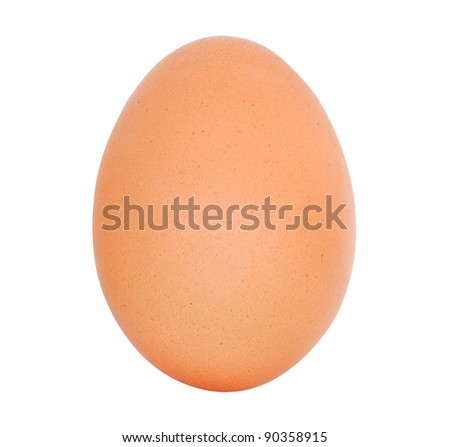 egg isolated on white