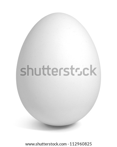 Egg - isolated on white background