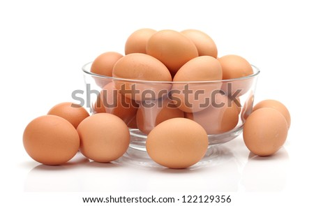 egg isolated on white background