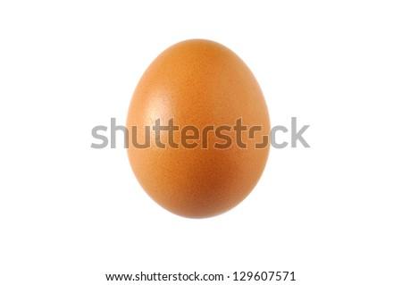 Egg isolated on white background