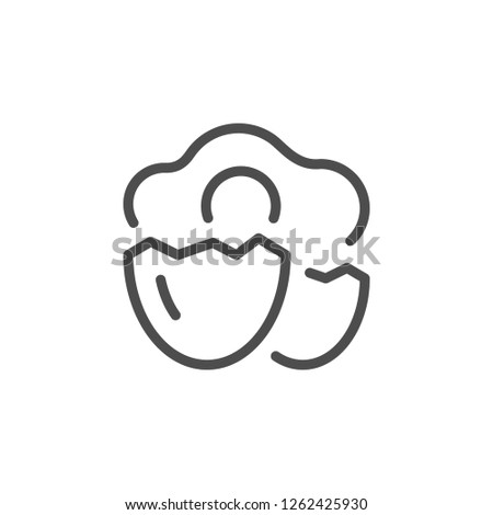 Egg line icon isolated on white