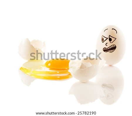 Egg screams as it sees dead friend