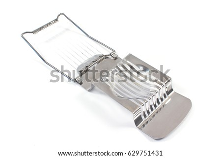 Egg slicer - cutter isolated on white