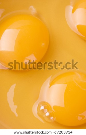 Egg yolk closeup background