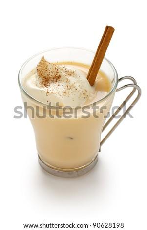 eggnog on a white background