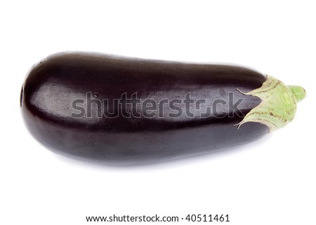 Eggplant isolated against a white background.