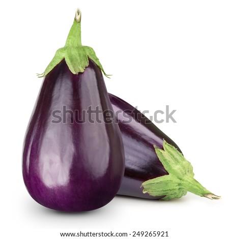 Eggplant isolated on white  Foto stock ©