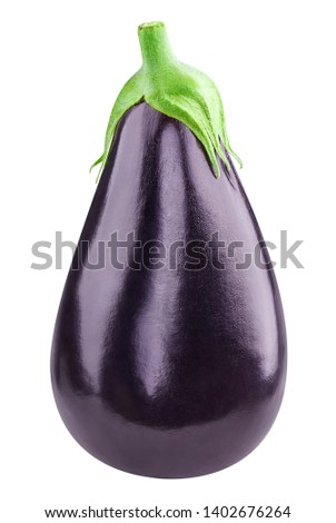 Eggplant Isolated with clipping path on a white background. Eggplant vegetable. Сток-фото ©