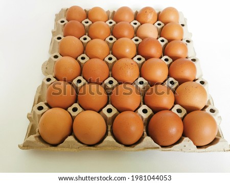 Eggs are a great source of protein rich in vitamins and minerals and are good for your health every day Zdjęcia stock ©