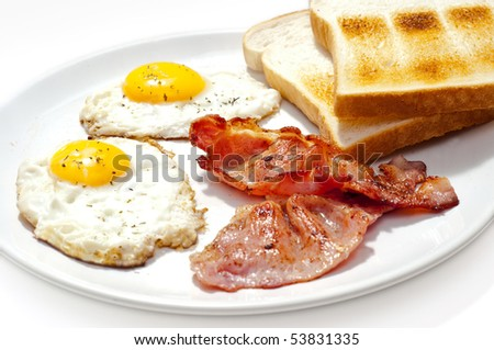 eggs bacon and toast breakfast