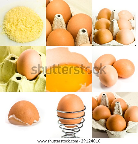 eggs collage - high definition photo