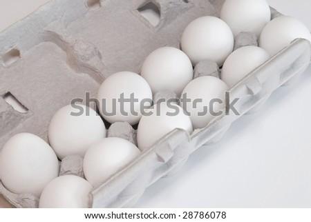 eggs in a cardboard carton