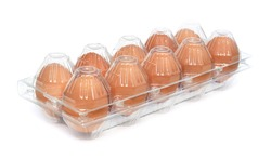 Eggs in box (isolated)
