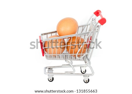 Eggs in the shopping cart