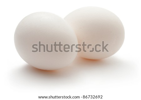 Eggs isolated on the white background