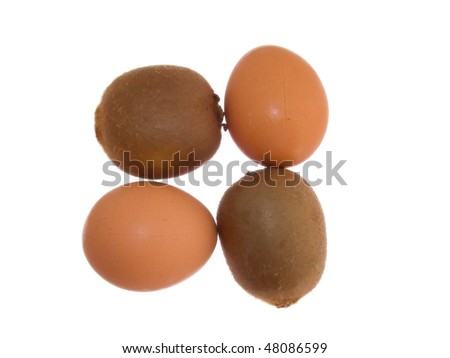 Eggs. Isolated on white.