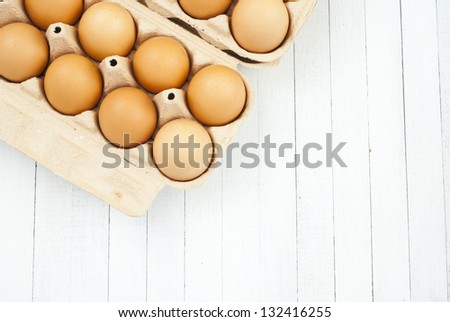 eggs on tray #132416255